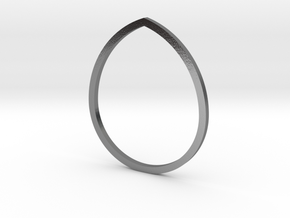 Drop 16.92mm in Polished Silver