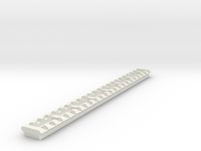 22 Slots Picatinny Rail (Pre-Drilled) in White Natural Versatile Plastic