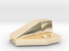 Ferret Tiny Grav Assault Sled Skids Up 25mm in 14k Gold Plated Brass