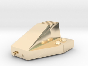 Ferret Tiny Grav Assault Sled Skids Up 15mm in 14K Yellow Gold