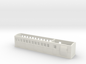 OO9 L&B Style Improved Brake Coach in White Natural Versatile Plastic