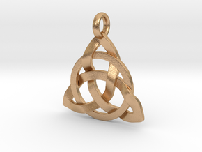 Circle Knotty Pendant in Natural Bronze