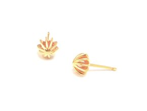 Sea Urchin Earrings small in 18k Gold Plated Brass