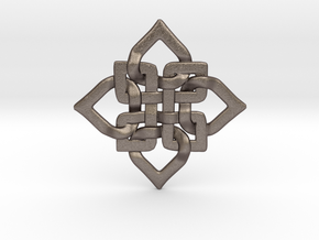 C. Knotty Pendant in Polished Bronzed-Silver Steel