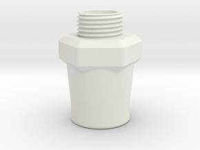 Scent Inhaler - CPR/CPAP Adapter in White Natural Versatile Plastic
