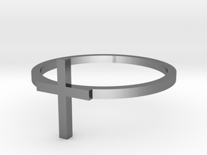 Cross 14.86mm in Polished Silver