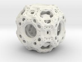 Qube.01 in White Natural Versatile Plastic
