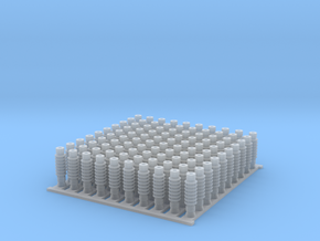 4mm OHLE insulators SM50D-B x 100 in Smooth Fine Detail Plastic