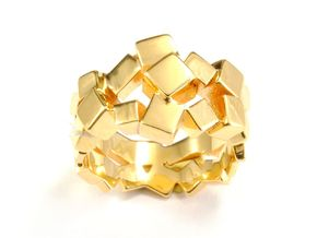 Prism Double Ring (from $15) in 18k Gold Plated Brass: 7 / 54