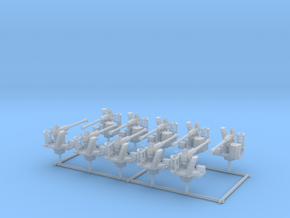 1/192 RN Single 40mm Bofors AA Guns Set x10 in Smooth Fine Detail Plastic