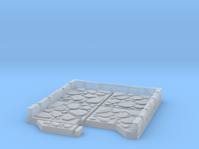 End Cap Dungeon Tile in Smooth Fine Detail Plastic
