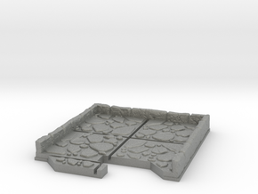 End Cap Dungeon Tile in Gray PA12
