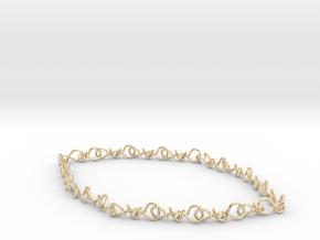 infinity earrings  in 14k Gold Plated Brass