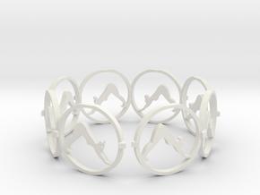 downward facing dog bracelet yoga (2) in White Natural Versatile Plastic