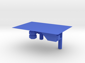 CNC Machining Soft-Clamps in Blue Processed Versatile Plastic