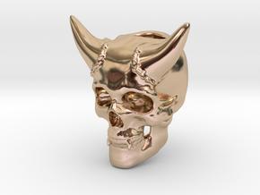 Skull Lanyard Bead in 14k Rose Gold Plated Brass