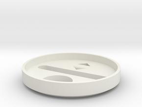 Rudy's HERO V3 bottom cap in White Natural Versatile Plastic