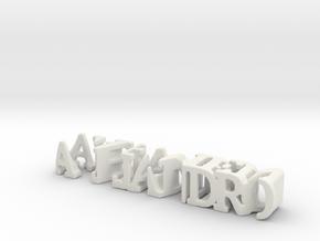 3dWordFlip: alejandro/carmen in White Natural Versatile Plastic