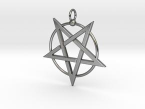 last pentagram3updatedver5 in Polished Silver