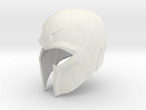 "Magneto X-men DOFP helmet 1/6 th scale for 12"" fig in White Natural Versatile Plastic"