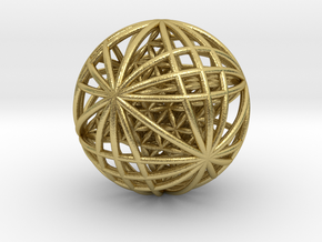 "Tantric Star of Awesomeness Sphere 2.5"" in Natural Brass"