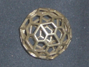 Polyhedral Pendant in Natural Brass