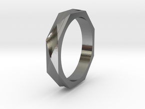 Facet 13.61mm in Polished Silver