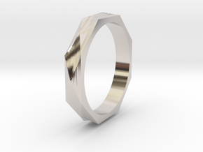 Facet 17.75mm in Rhodium Plated Brass