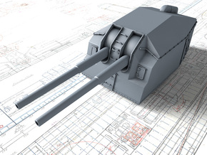 "1/96 DKM 15cm/48 (5.9"") Tbts KC/36T Gun x1 in Smooth Fine Detail Plastic"