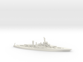 US Colorado-Class Battleship in White Natural Versatile Plastic