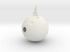 Full moon in White Natural Versatile Plastic: Small