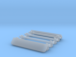 1/64 Two Roof Racks with Wind Deflector 19mm width in Smooth Fine Detail Plastic