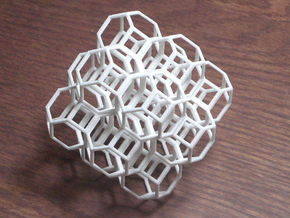 Truncated Octahedra in White Acrylic