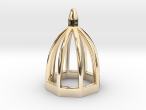 Microarchitecture_05 in 14k Gold Plated Brass
