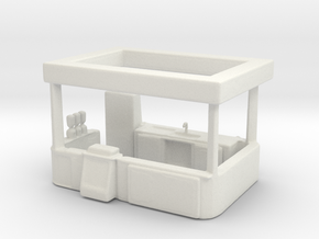 S Scale Food Stand in White Natural Versatile Plastic