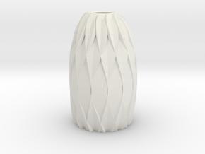 MV Collection - Vase1 in White Natural Versatile Plastic