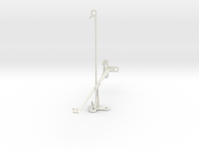 Samsung Galaxy Tab S4 10.5 tripod mount in White Natural Versatile Plastic