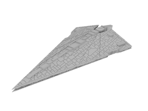100mm Imperious Class Star Destroyer in White Natural Versatile Plastic