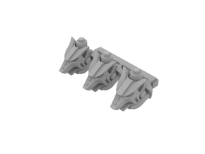 Miniature scale - Iron werewolf head in Smoothest Fine Detail Plastic