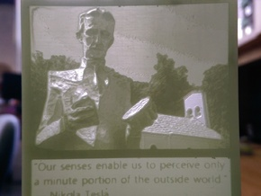Nikola Tesla hanging lithophane Meme in White Strong & Flexible Polished