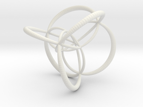 16-cell, stereographic projection 2, thick edges in White Natural Versatile Plastic