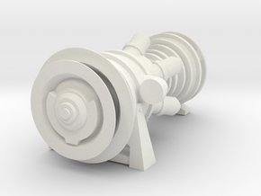 15MW Gas Turbine in White Natural Versatile Plastic: 1:220 - Z
