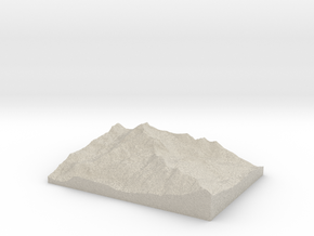 Model of Trail Rider Pass in Natural Sandstone