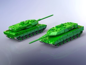 German Leopard 2 A7 MBT 1/220 in Smooth Fine Detail Plastic