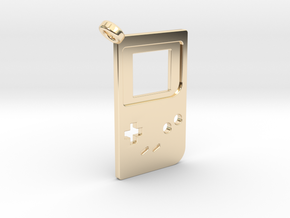 Gameboy Classic Styled Pendant in 14K Yellow Gold