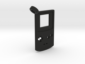 Gameboy Color Styled Pendant in Black Natural Versatile Plastic