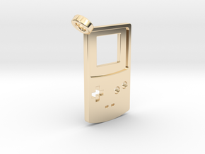 Gameboy Color Styled Pendant in 14K Yellow Gold