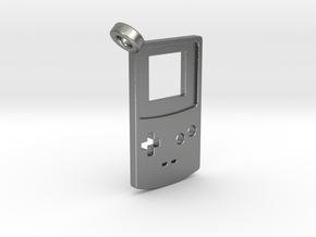Gameboy Color Styled Pendant in Natural Silver