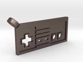 NES Controller Styled Pendant in Polished Bronzed-Silver Steel