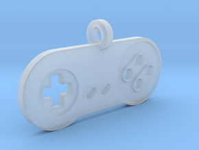 SNES Controller Styled Pendant in Smooth Fine Detail Plastic